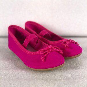 2/$20 Zoe & Zac Girls' Fae Flat--Hot Pink